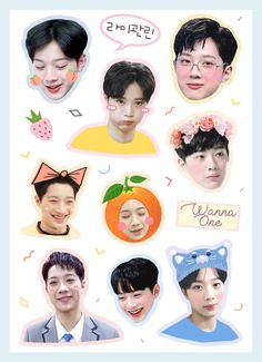 Exo Stickers, Tumblr Stickers, Phone Stickers, Printable Stickers, Cute Stickers, Kpop, Lai Guanlin, Good Notes, Aesthetic Stickers