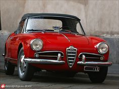 Alfa Romeo Giulietta Spider. Right now I have a Giulietta and I love it. Especially when I put it into dynamic and put my foot down - the noise is goooooood!