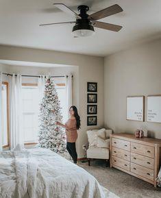 Cedar Key Outdoor with Light 52 inch - Ceiling Fan Ceiling Fan Makeover, 52 Inch Ceiling Fan, Ceiling Decor, Ceiling Fans, Christmas Bedroom, Bedroom Decor, Master Bedroom, Diys, New Homes