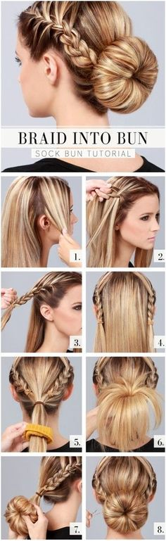 - Cute and Easy Hairstyles. - Source Cute and Easy Hairstyles. Cute and Easy Hairstyles. Sock Bun Hairstyles, Pretty Hairstyles, Everyday Hairstyles, Hairdos, Hairstyles 2018, Simple Hairstyles, Wedding Hairstyles, Latest Hairstyles, Hairstyles For Medium Length Hair Tutorial