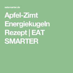 Apfel-Zimt Energiekugeln Rezept   EAT SMARTER