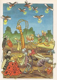 svetlusky Children's Book Illustration, Illustration Children, Comic Drawing, Old Comics, Fairytale Art, Amazing Adventures, Typography Prints, Vintage Ephemera, Animal Party