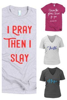 womens casual fashion, Christian tees, Christian shirts, Christian t-shirts, faith tees,