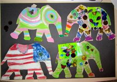 Want to add quality art lessons to your study of INDIA? Fancy elephants, painted peacocks, hiding tigers, kid created coloring pages Diwali Elephants, Elephants For Kids, Painted Elephants, Lesson Plans For Toddlers, Art Lessons For Kids, Art For Kids, Indian Elephant Art, Elephant India, Toddler Art