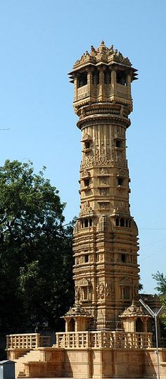 Tower in the compound of Hatti (Hathi) Singh ni vadi, Ahmedabad, Guajarat,