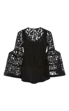 Bell Sleeve Lace Jacket by CAROLINA HERRERA for Preorder on Moda Operandi