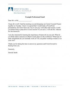 Download professional email example 05 Professional Email Example, Professional Email Templates, Public School, Have Fun, Presentation, Writing, Words, English, English Language