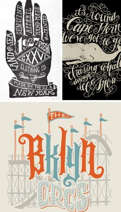 incredible hand-lettering by illustrator, designer, and typographer, Jon Contino via Oh Joy