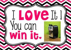 Win this pencil sharpener! It is so quiet and the pencils are sharp, sharp, sharp!