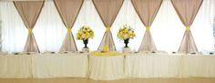 Bridal party table backdrop