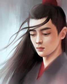 """Wei Ying from """"The Untamed"""" Portraits, Digital, Portrait Paintings, Portrait, Portrait Photography"""