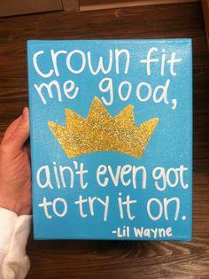 ZETA TAU ALPHA Painted Canvas // Lil Wayne by CustomCanvasesByCase, $15.00