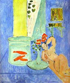 Natureza morta com peixes vermelhos - Henri Matisse, 1911. Fauvismo