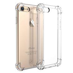 Para iphone 7 plus case marca de lujo a prueba de golpes armor casos para iphone 7 7 plus gasbag cristalina del teléfono accesorios cubierta de la bolsa