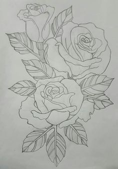 Latest Absolutely Free old school rose drawing Tips In this tutorial, we shall look into precisely how to attract a went up by using pastels. We've been using pastels in Flower Sketches, Art Drawings Sketches Simple, Pencil Drawings, Rose Drawings, Drawings To Trace, Rose Sketch, Pencil Art, Fabric Painting, Painting & Drawing