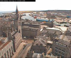 Aberdeen, Scotland: It was cloudy and cold---just as Scotland should be!