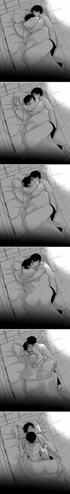You couldn't have left it at cuddling Levi-
