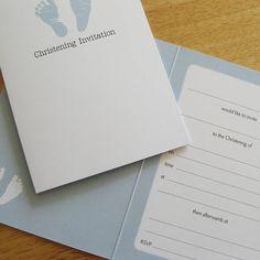 14 best first communion invitations ideas images on pinterest footprint christening invitation from notonthehighstreet stopboris Gallery