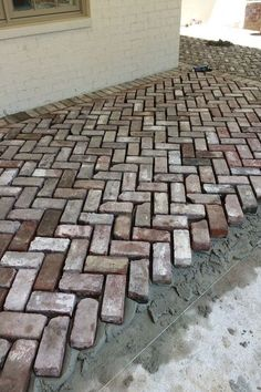 Our reclaimed brick incorporated into Davis Construction Services, LLC​ projec. - Our reclaimed brick incorporated into Davis Construction Services, LLC​ project! Brick Driveway, Brick Paver Patio, Brick Pathway, Patio Stone, Concrete Patio, Outdoor Pavers, Stone Walkways, Driveways, Garden Paving