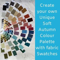 Dark Autumn, Dark Winter, Warm Spring, Soft Summer, Soft Autumn Color Palette, Draped Fabric, Season Colors, Fabric Swatches, Create Your Own