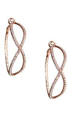Rose Gold Pave Infinity Hoop Earrings <3