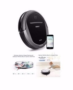 Ecovacs DEEBOT DM85 Floor Cleaning/Mopping Robot Home Cleaner Pet Friendly Black #ECOVACS