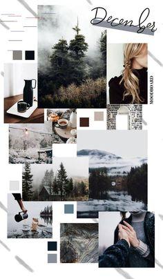 December Background Monthly Goals 2018 Moodboard S Scheme Color, Color Schemes Colour Palettes, Cute Wallpapers, Wallpaper Backgrounds, Iphone Wallpaper, Grey Wallpaper, Collage Design, Collage Art, Collage Ideas