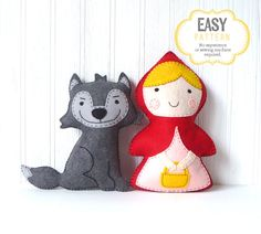 Little Red Riding Hood and the Big Bad Wolf by LittleSoftieShoppe