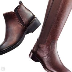 Tory Burch Griffith Bootie & Christy Riding Boot