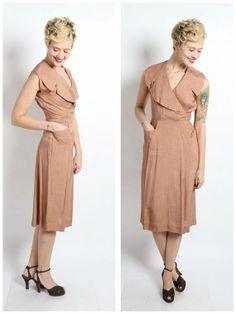 1950s Dress // Bright Horizon Dress // vintage by dethrosevintage, $88.00