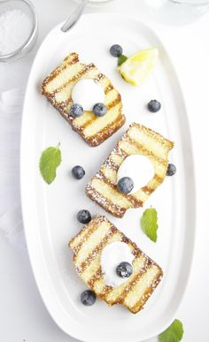 Grilled Pound Cake with Blueberries #MemorialDay