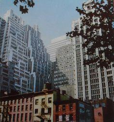 1950s Midtown Manhattan NYC vintage photo Skyscrapers by Christian Montone, via Flickr