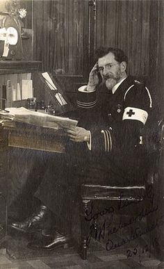 Red Cross quartermaster in his office, WW1