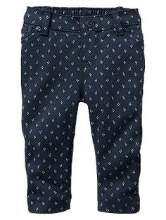 Pull-on printed ponte pants | Gap