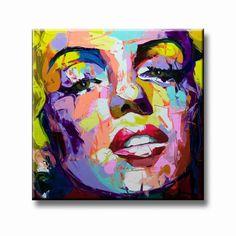 Marilyn Monroe figuratief schilderij blonde vrouw