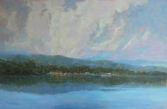 Clouds Over Tomales by Tatyana Fogarty Oil ~ 24 x 36