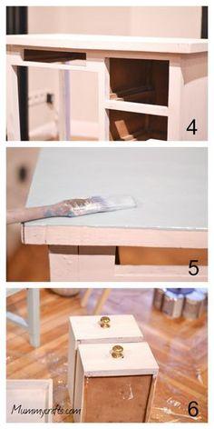 Decapar un mueble con pintura a la tiza chalk Chalk Paint, Painted Furniture, Dyi, Shabby, Table, Handmade, Painting, Inspiration, Home Decor