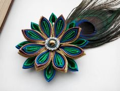 Hey, I found this really awesome Etsy listing at https://www.etsy.com/ru/listing/258783836/peacock-feather-flower-hair-clip-hair