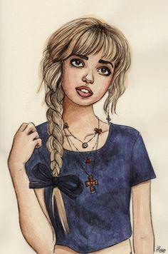 a girl #art