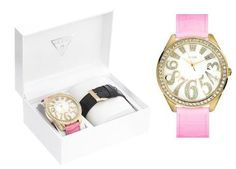 Guess Oversize Gold Cz Carousel Lady Watch U10544L1 GUESS. $99.97