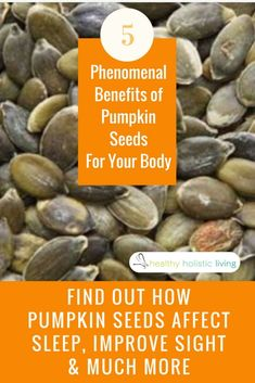 Pumpkin Seeds are loaded with Magnesium. Most Americans are magnesium deficient. Being one of the most vital minerals, it is responsible for over 300 different biochemical reactions which are essential for your body to function properly. 1/2 cup of pumpkin seeds contains 92% of your daily value of magnesium.