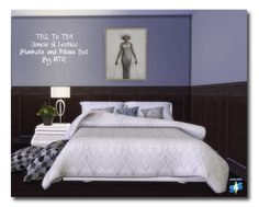 2T4 Jonesi's & LeeHee's Bed Blankets and Pillows Set at Msteaqueen via Sims 4 Updates