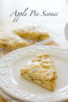 Apple pie filling inside of light, flaky scones! So good.