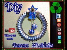 Diy.Corona Navideña Reciclando Mirna y sus manus Diy. How to make a Christmas wreath Recycling - YouTube