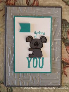 Stampin up kind koala
