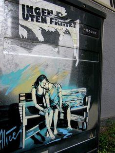 Alice Pasquini - Oslo by AliCè | Urban Art