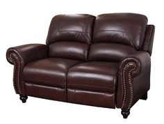 "Paulette 65.5"" Leather Loveseat"