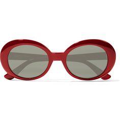 SL 98 California round-frame acetate sunglasses Saint Laurent ❤ liked on Polyvore featuring accessories, eyewear, sunglasses, glasses, yves saint laurent sunglasses, round frame sunglasses, acetate sunglasses, round sunglasses and yves saint laurent eyewear