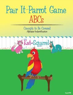 Great game for preschoolers! We play it at home! Pair It! Parrot! ABCs - Alphabet Recognition
