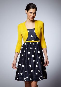 Really cute and vintage. Any color cardigan would look amazing with this. The possibilities are endless.  ; )